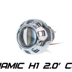 Биксеноновая линза Optimа Moto Dynamic CCFL 2.0' H1, модуль под лампу H1 2.0 дюйма (бленда круглая 807 с АГ CCFL) 3