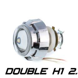 Биксеноновая линза Optimа Moto Dynamic Double CCFL 2.0' H1, модуль под лампу H1 2.0 дюйма (бленда круглая 808 с двумя АГ CCFL) 4