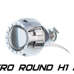 Биксеноновая линза Optimа Micro Round 2.0' H1, модуль под лампу H1 2.0 дюйма (бленда круглая R без АГ) 2