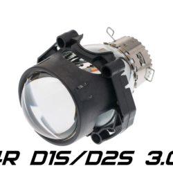 "Биксеноновая линза Optima 4R Lens 3.0"" D1S/D2S, круглый модуль под лампу D1S/D2S 3.0 дюйма без бленды 9"