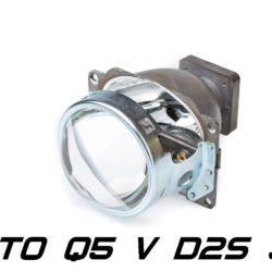 """Биксеноновая линза Koito Q5 Versus 3.0"""" D1S/D2S, круглый модуль под лампу D1S/D2S 3.0 дюйма без бленды 8"""
