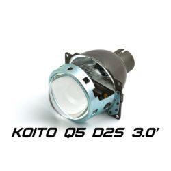 "Биксеноновая линза Koito Q5 3.0"" D2S, круглый модуль под лампу D2S 3.0 дюйма без бленды 6"
